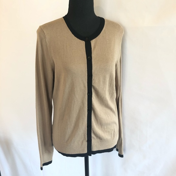 Ann Taylor Green Yellow 3//4 sleeve light weight sweater Excellent work casual M